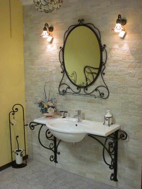 Mobili bagno ferro battuto design casa creativa e mobili - Mobile bagno ferro battuto ...