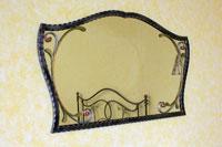 Specchiera in ferro battuto Diomede