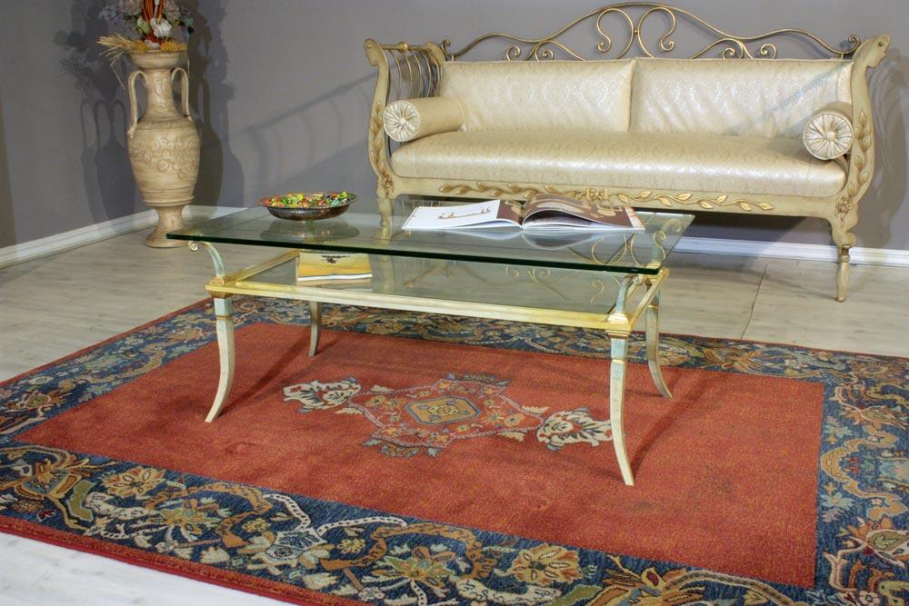 Tavolini In Vetro E Ferro Battuto : Tavolini da salotto in cristallo e ferro battuto eziadilabio