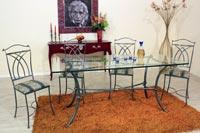 Tavolo in ferro battuto Esedra